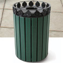 Charleston Outdoor Trash Receptacle by UltraPlay