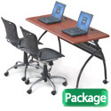 Package Deal- Chi Flipper Seminar Table & Training Chairs by Balt