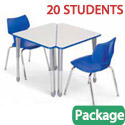 Click here for more Classroom Set - 20 Wing Desks & Flavors Chairs by Smith System by Worthington