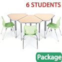 Click here for more Classroom Set - 6 Diamond Desks & Flavors Chairs by Smith System by Worthington