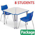 Click here for more Classroom Set - 8 Wing Desks & Flavors Chairs by Smith System by Worthington