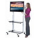 Click here for more Crank Adjustable Flat Panel TV Cart by Luxor by Worthington