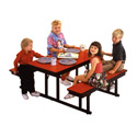 Click here for more Children's Cafeteria Bench Tables by Barricks by Worthington