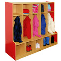 Click here for more Colorful Essentials Coat Locker w/ Bench by ECR4Kids by Worthington