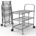 Click here for more Collapsible Wire Utility Carts by Luxor by Worthington