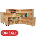 Contender Series Mobile Folding Storage Units by Wood Designs