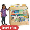 Click here for more Birch Display & Store Mobile Book Cart by ECR4Kids by Worthington