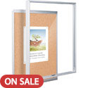Click here for more Economy Indoor Enclosed Cork Bulletin Board Cabinet by Best-Rite by Worthington