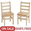 Click here for more Ladderback Chairs by ECR4Kids by Worthington