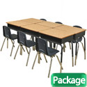 Click here for more Classroom Packages- Open Front Desk & Chair Sets by ECR4Kids by Worthington