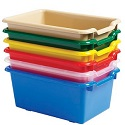 Click here for more Scoop Front Plastic Storage Bins by ECR4Kids by Worthington