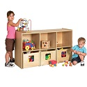 Click here for more Birch See and Store Shelf with Bins by ECR4Kids by Worthington