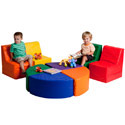 Click here for more SoftZone 8 Piece Sectional by ECR4Kids by Worthington