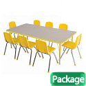 "Click here for more Rectangle Activity Table & Chair Packages - 30"" & 36"" Deep by ECR4Kids by Worthington"