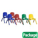 Click here for more Assorted Pack Stack Chairs w/ Matching Legs by ECR4Kids by Worthington