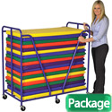Click here for more Package- Rest Mat Trolley w/ 20 Mats by ECR4Kids by Worthington