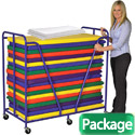 Click here for more Package- Rest Mat Trolley w/ 20 Mats and Sheets by ECR4Kids by Worthington