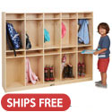 Click here for more Birch 10-Section Coat Locker by ECR4Kids by Worthington