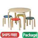 Click here for more Bentwood Table and Stools Set by ECR4Kids by Worthington