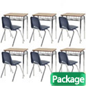 Click here for more Classroom Packages- Wire Book Basket Desk & Chair Sets by ECR4Kids by Worthington