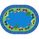 Click here for more All Around Cars Alphabet Rug by ECR4Kids by Worthington