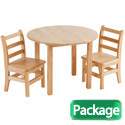 Click here for more Round Hardwood Table & Chair Sets by ECR4Kids by Worthington