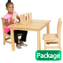 Click here for more Square Hardwood Table & Chair Sets by ECR4Kids by Worthington