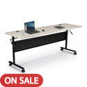 Click here for more Economy Flipper Folding Training Table with Modesty Panel by Balt by Worthington