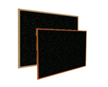 Recycled Rubber Bulletin Boards w/ Wood Frame by Ghent