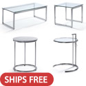 Click here for more Glass & Steel Reception Tables by Woodstock Marketing by Worthington