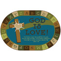 Click here for more God is Love Learning Rug - Nature's Colors by Carpets for Kids by Worthington