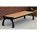 Heritage Backless Outdoor Benches by Jayhawk Plastics