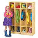 Click here for more Birch 4 Section Coat Locker by Jonti-Craft by Worthington