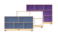 Click here for more Single Mobile Storage Units With Colored Backs by Jonti-Craft by Worthington