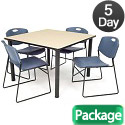Click here for more Kee Base Cafe Table and Four Zeng 4400 Chairs by Regency by Worthington