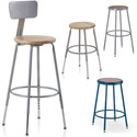 Colorful Hardboard Seat Stools by KI