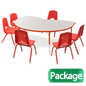 Click here for more Preschool Kidney Activity Table & 6 Chair Package Set by Marco Group by Worthington