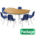 Click here for more Kidney Activity Table & 6 Chair Package Set by Marco Group by Worthington