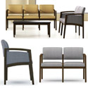 Lenox Panel Arm Series Reception Seating by Lesro