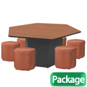 Click here for more Hexagon Table and Chair Packages by Marco Group by Worthington