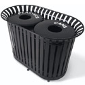 Dual Lexington Outdoor Trash Receptacles by UltraPlay