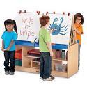 Click here for more MapleWave 4 Station Easel by Jonti-Craft by Worthington