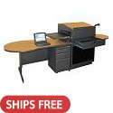 Click here for more Teacher Desk w/ Media Center by Marvel by Worthington