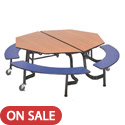 Click here for more Mobile Octagonal Cafeteria Tables with Bench by AmTab by Worthington