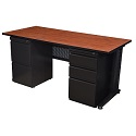Fusion Double Pedestal Desk by Regency