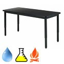 Adjustable Height Epoxy Resin Metal Frame Science Tables by Diversified