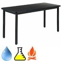 Click here for more Epoxy Resin Metal Frame Science Tables by Diversified by Worthington