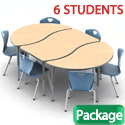 Click here for more Method Table & 2Thrive Chair 9-Piece Package by Scholar Craft by Worthington