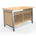 Work Tables with Shelves by LIAT