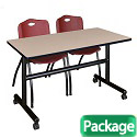 Click here for more Kobe Flip Top Training Table & M Stacker 4700 Chairs by Regency by Worthington